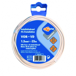 CABLE VOB 1X1.5MM² BLANC 25M