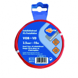 CABLE VOB 1X2.5MM² ROUGE 10M