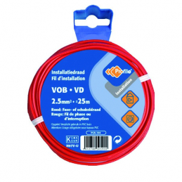 CABLE VOB 1X2.5MM² ROUGE 25M