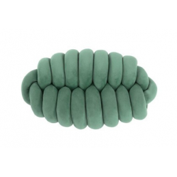 Coussin knotted stone green...