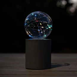 Lampe solaire boule support...
